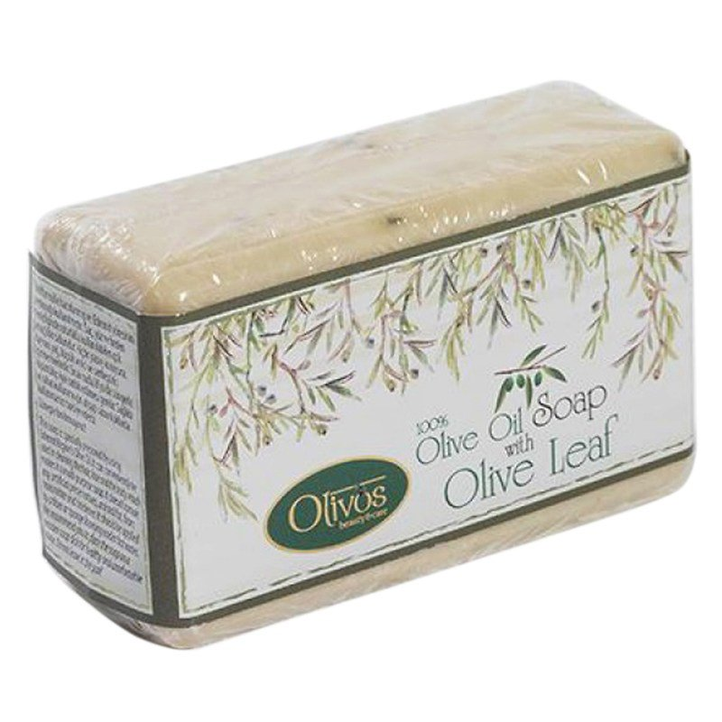 "Olivos Classic Olive Oil soap with Olive Leaf - Натуральное оливковое мыло ""Оливковый лист"""
