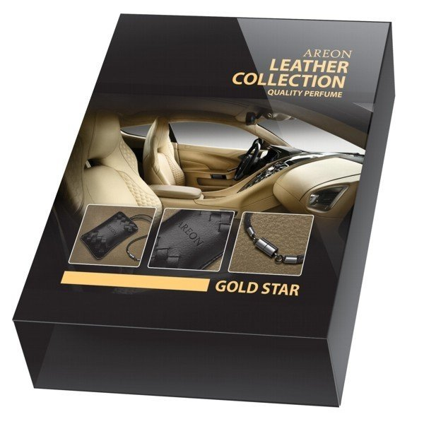 Ароматизатор воздуха Areon Leather Collection Gold Star ALC01