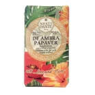Nesti Dante With Love and Care De Ambra Papaver Soap - Мыло Амбра и Красный мак
