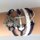 "Bracelet - ""Sea Rose Winds"" blue"